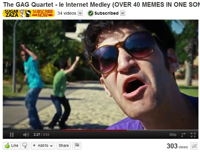 The GAG Quartet   le Internet Medley