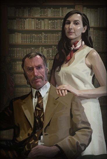 Cave Johnson et Caroline